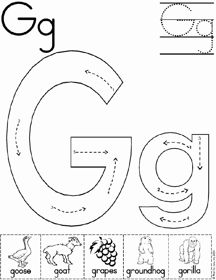 G Worksheets for Preschool Awesome 15 Exciting Letter G Worksheets for Kids