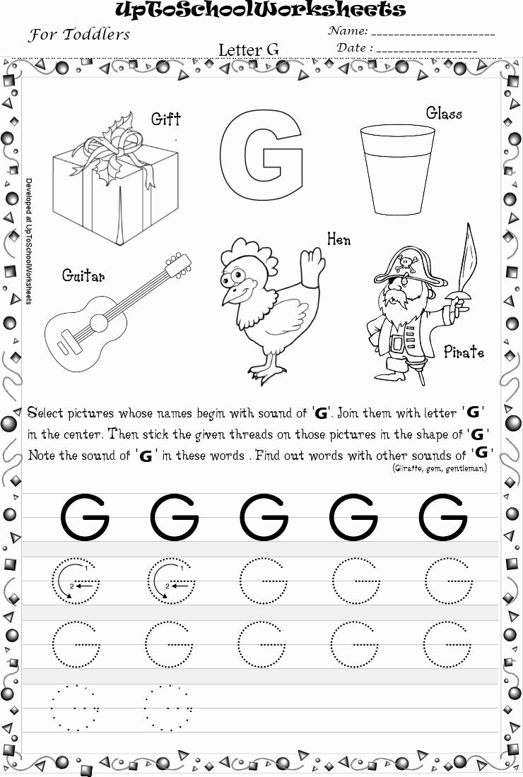 G Worksheets for Preschool Beautiful 16 Best Of Traceable Letter G Worksheet Letter G