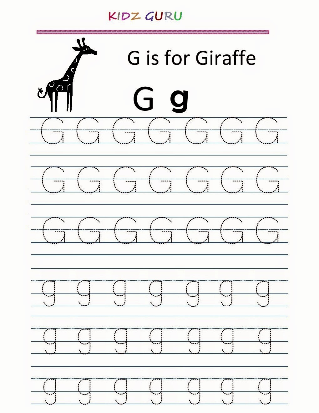 G Worksheets for Preschool Fresh 15 Exciting Letter G Worksheets for Kids