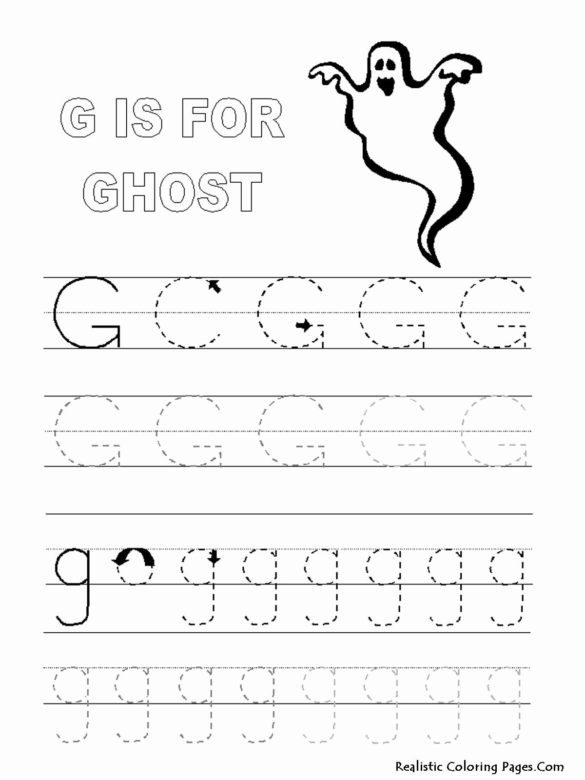G Worksheets for Preschool Fresh 16 Best Of Traceable Letter G Worksheet Letter G
