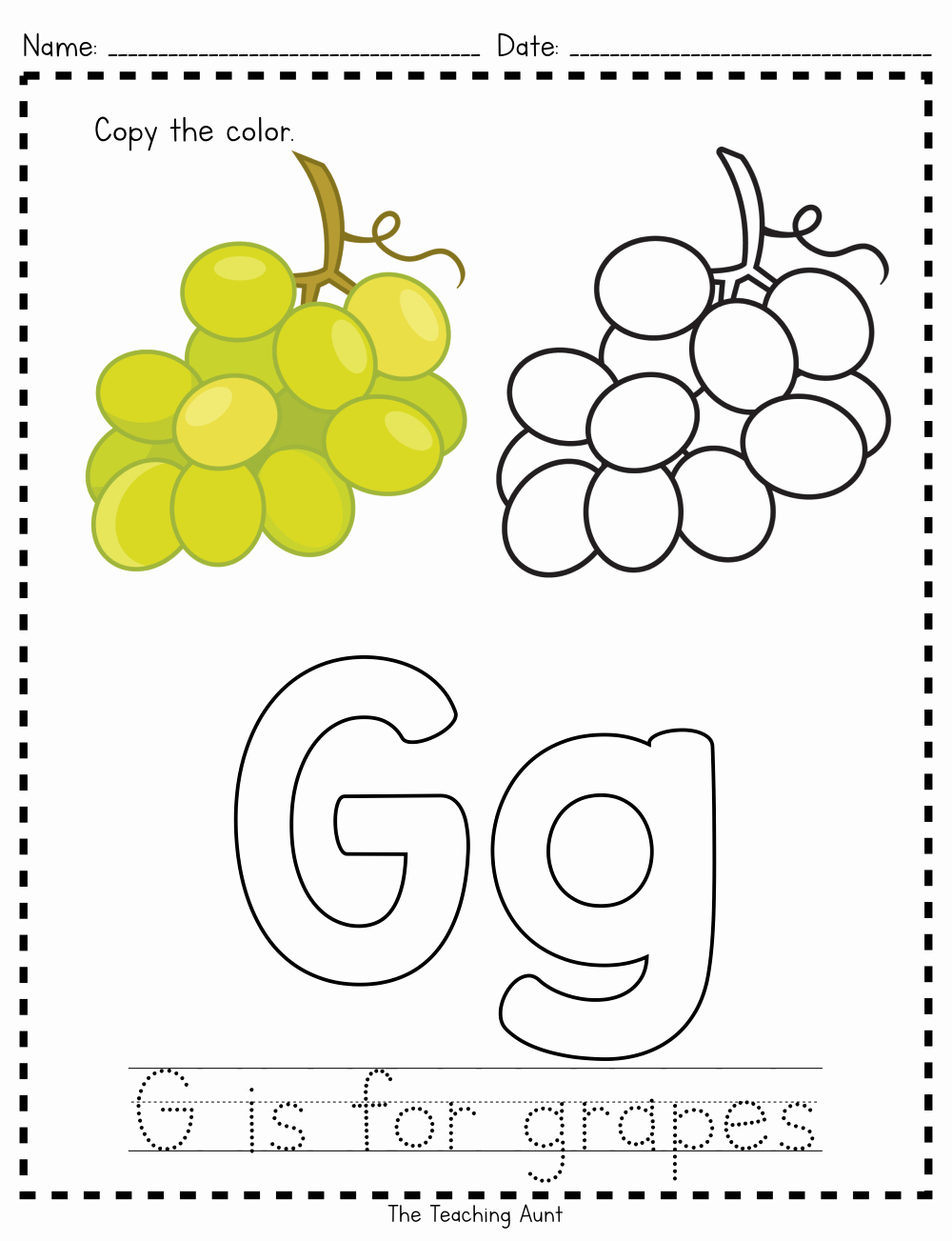 G Worksheets for Preschool Luxury G is for Grapes Paper Pasting Activity