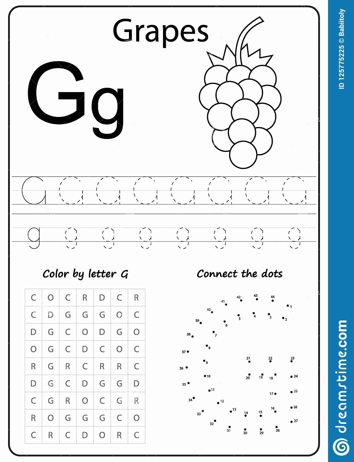 G Worksheets for Preschool Luxury Letter G Worksheets for Kindergarten