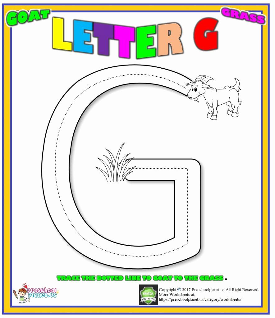 G Worksheets for Preschool Unique Letter G Worksheet for Preschool – Preschoolplanet