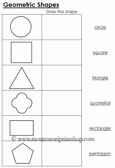 Geometric Shape Pattern Worksheets Inspirational 7 Best Of Printable Geo Shapes Geometric Shapes