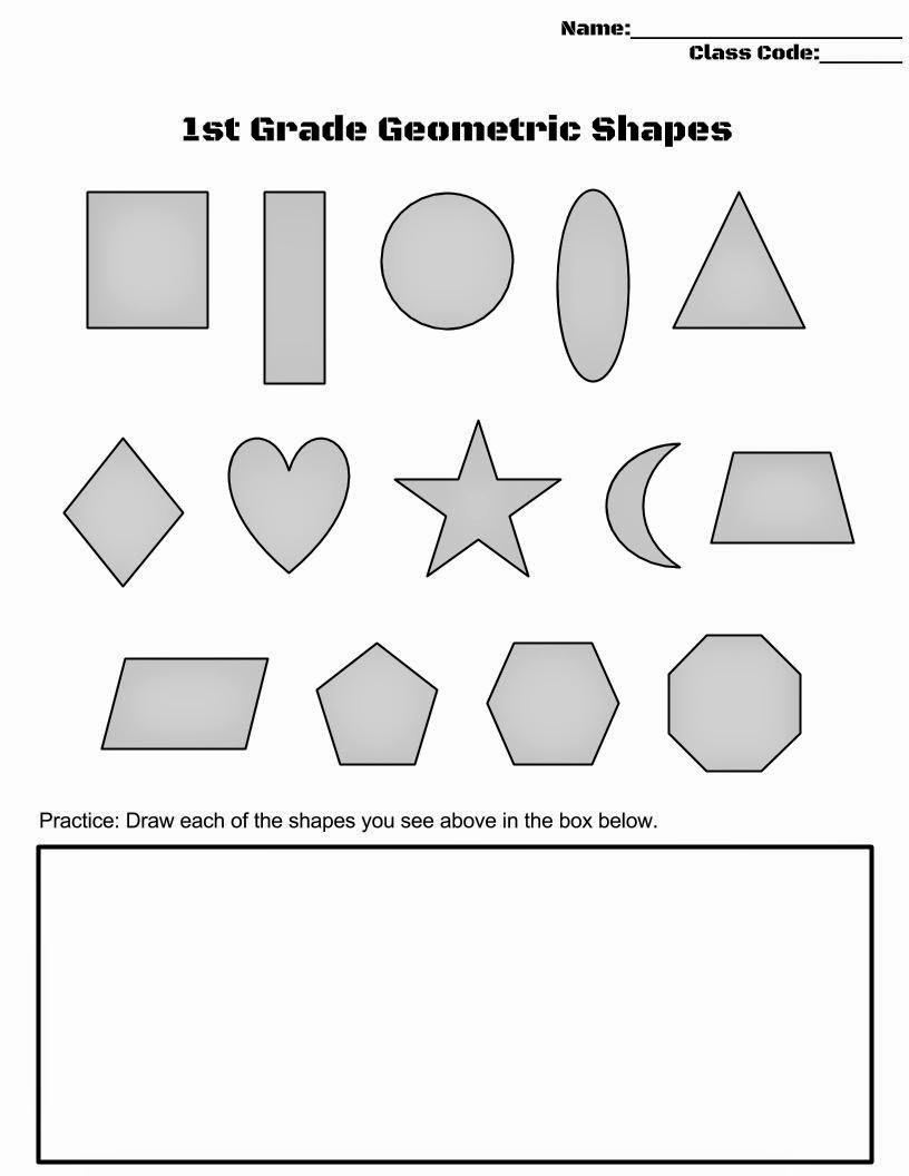Geometric Shape Pattern Worksheets Unique Art Winkz 1st Gr Geometric Shapes Worksheet
