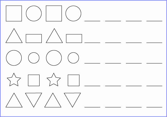 Geometric Shape Patterns Worksheet Lovely Worksheet with Geometric Shape Patterns – Twist Of Creation