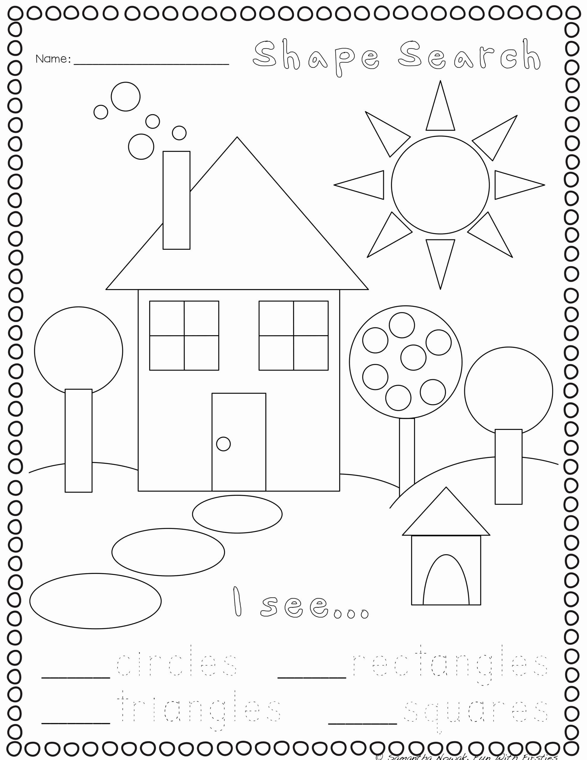 Geometric Shape Patterns Worksheet Unique Kindergarten 3d Shapes Worksheets Print Go Geometry