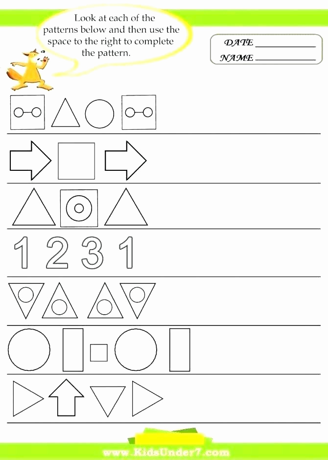 Geometric Shapes Patterns Worksheets Elegant 25 Ou Ow Worksheets 2nd Grade