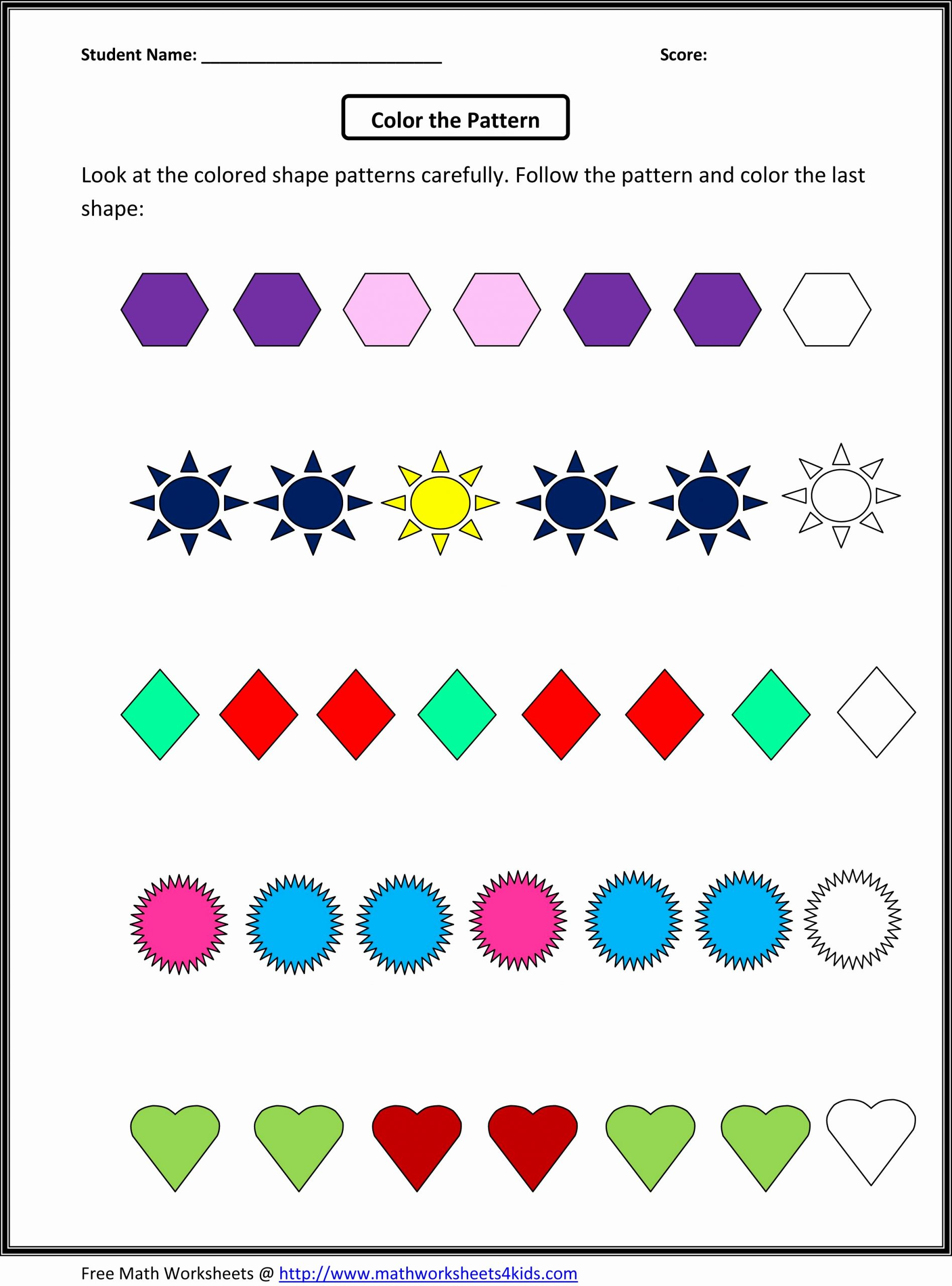 Geometric Shapes Patterns Worksheets New Perimeter Of Irregular Shapes