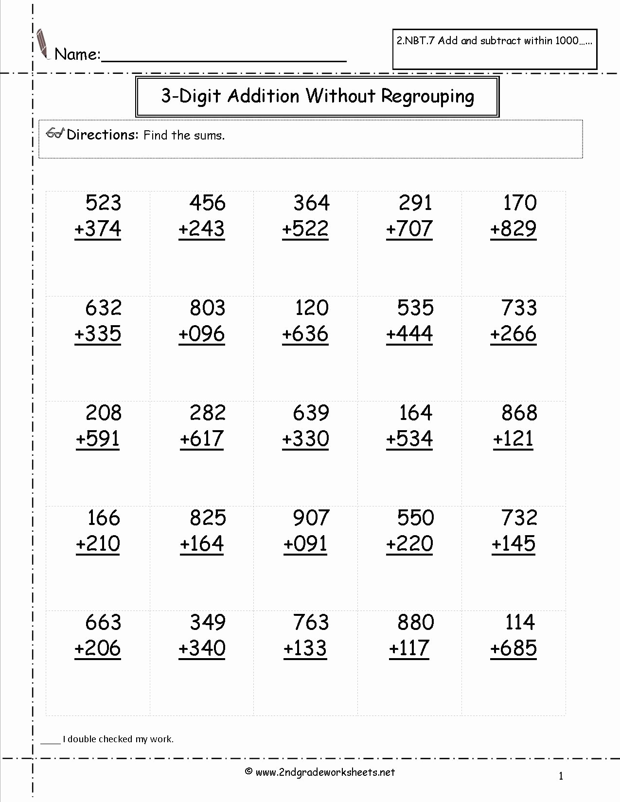 Geometry Worksheet 2nd Grade Beautiful 2nd Grade Math Subtraction Printable Worksheets – Learning