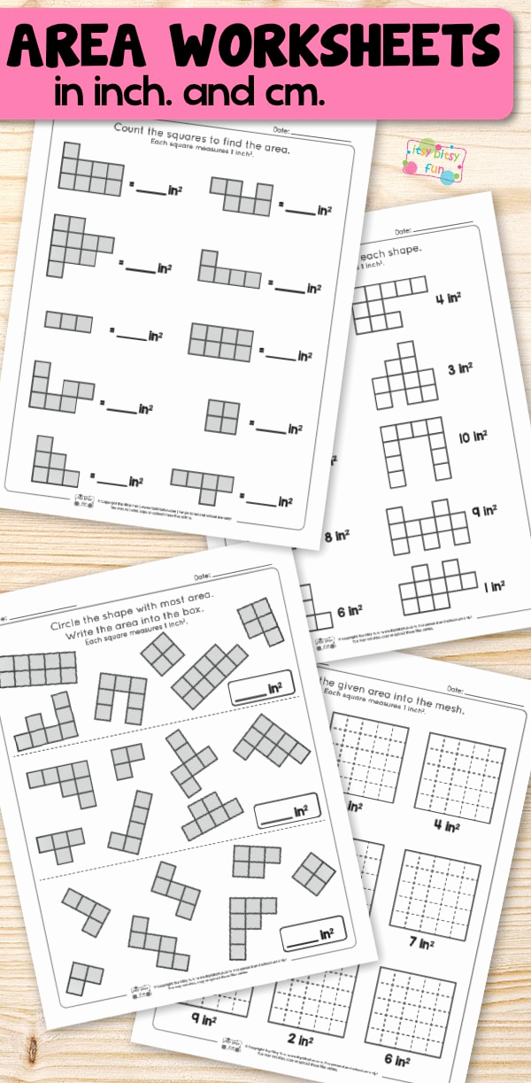 Geometry Worksheet 2nd Grade New area Worksheets 2nd Grade Math Worksheets Itsybitsyfun