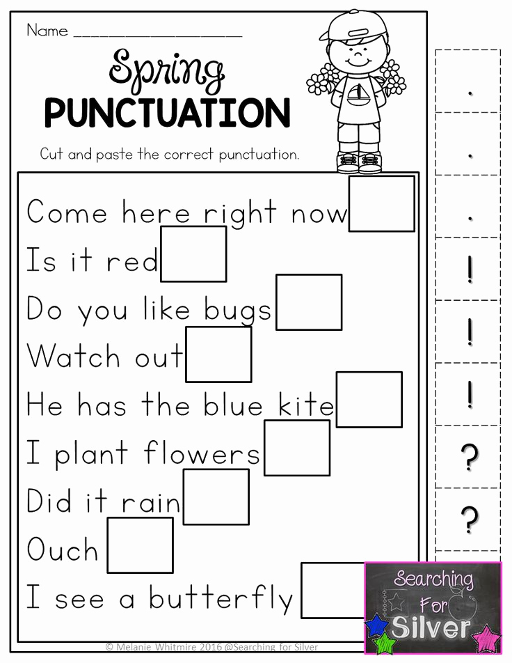 Grammar Worksheet 1st Grade Awesome Spring Math & Literacy Printables 1st Grade