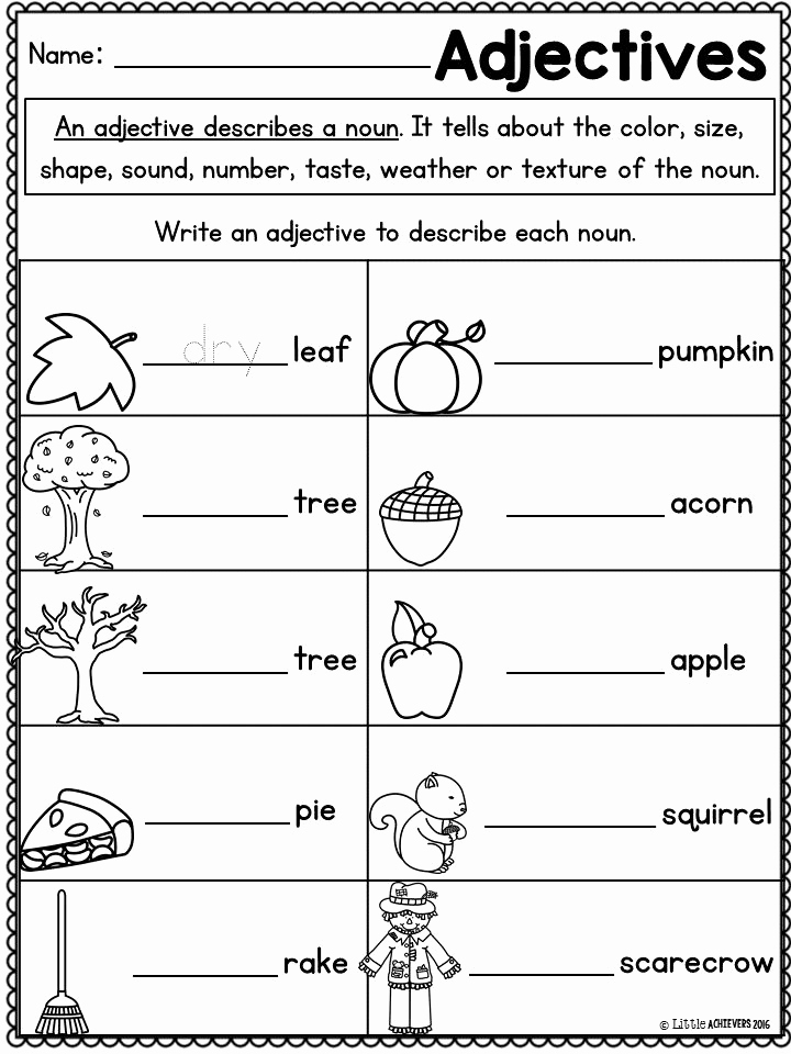Grammar Worksheet 1st Grade Beautiful Fall Activities for First Grade Math Worksheets and