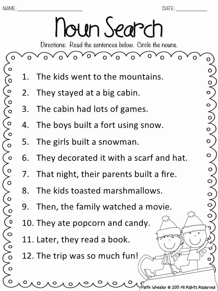 Grammar Worksheet 1st Grade Best Of 1st Grade Grammar Worksheets to Printable to 1st Grade