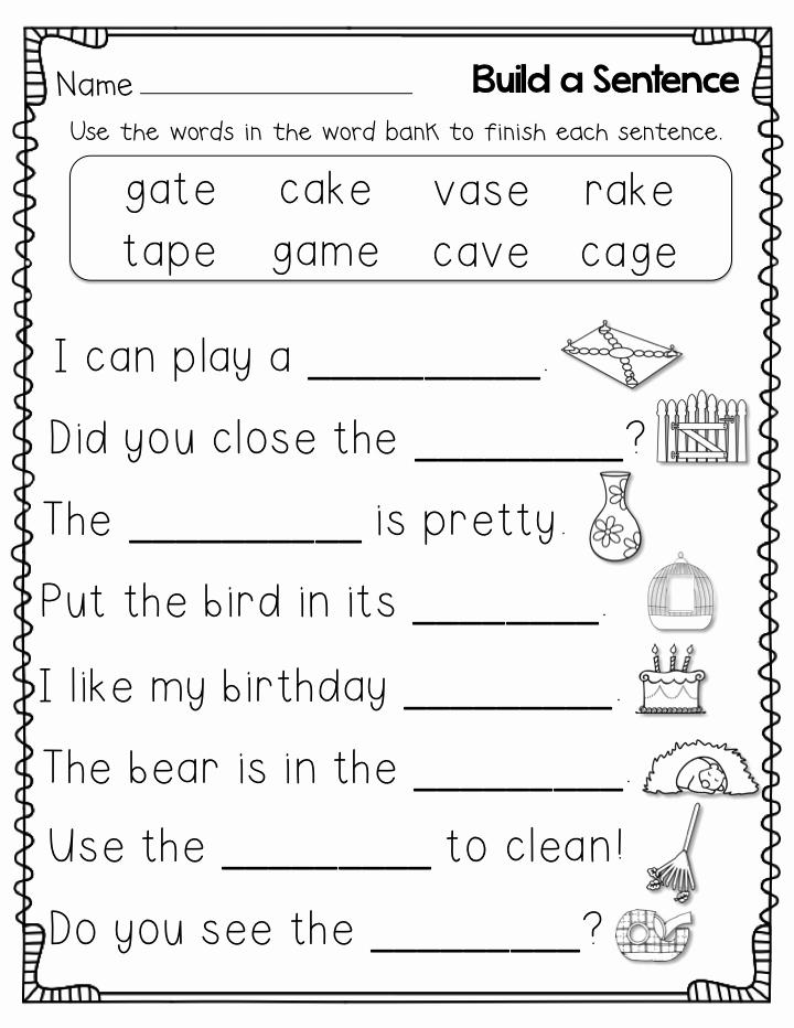 Grammar Worksheet 1st Grade Inspirational 1st Grade Worksheets Best Coloring Pages for Kids