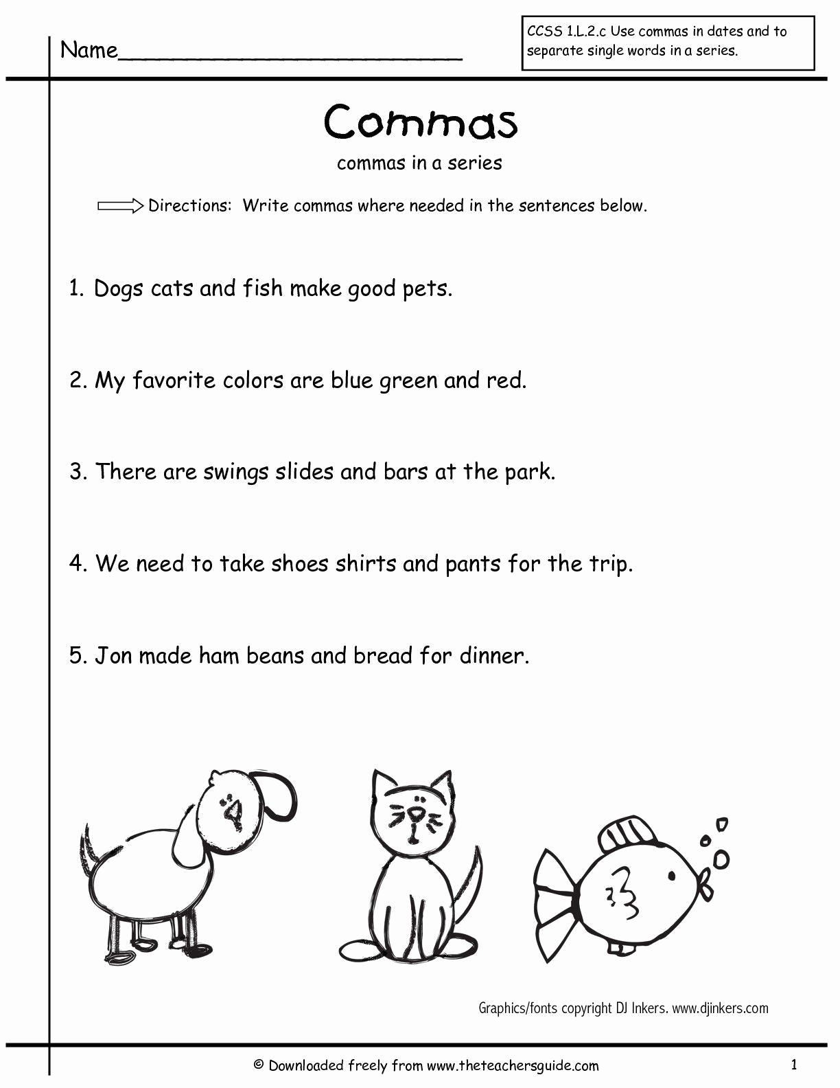 Grammar Worksheet 1st Grade Unique Free 1st Grade Grammar Worksheets 1st Grade