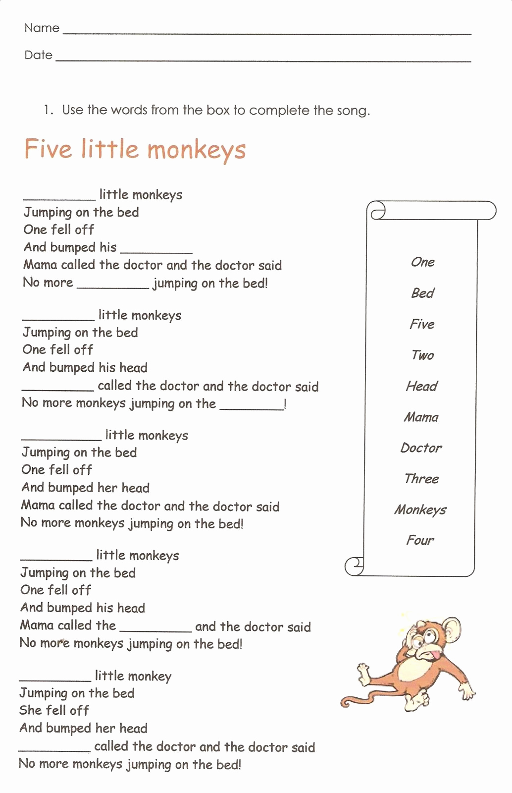 Grammar Worksheet First Grade Inspirational First Grade English Worksheets to Print