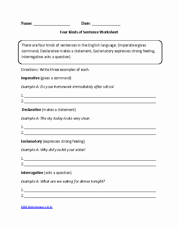 Grammar Worksheets for 8th Graders Luxury 8th Grade English Worksheets