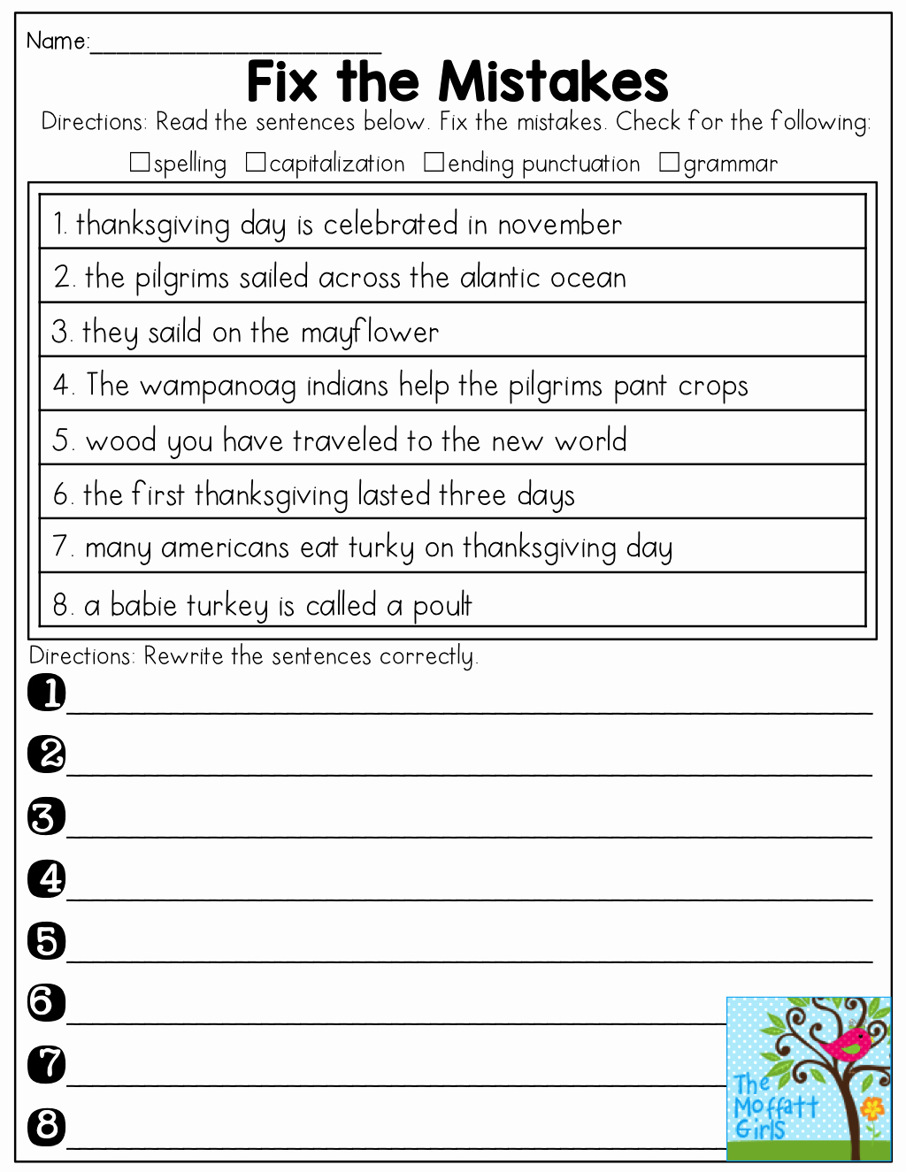 Grammatical Error Worksheets Beautiful Fix the Mistakes In the Sentences See How Many Mistakes