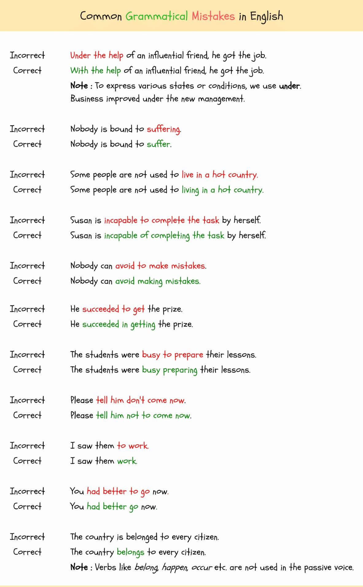 Grammatical Error Worksheets Best Of Grammatical Errors 150 Mon Grammatical Errors In