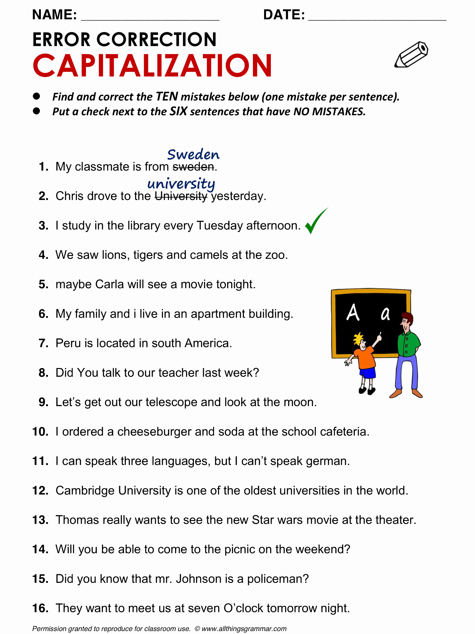 Grammatical Error Worksheets Inspirational Worksheet Find the Grammar Errors