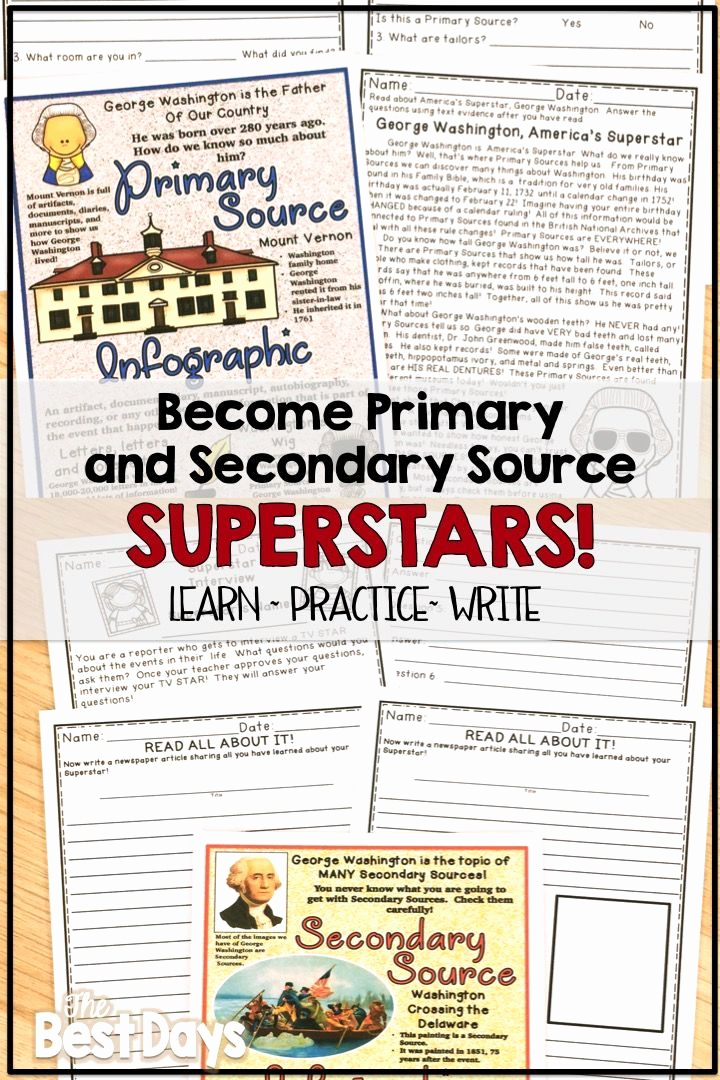 Graphic sources Worksheets New Primary and Secondary sources Worksheet Worksheet