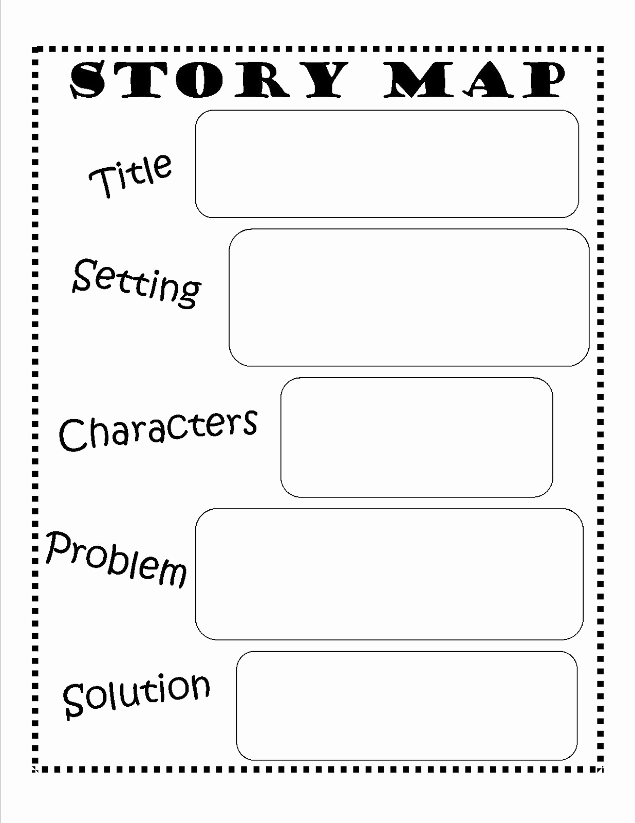 Graphic sources Worksheets New Printable Story Map for 5th Grade Lovely Character Map