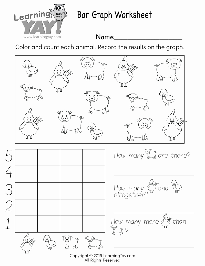 Graphing Worksheets for First Grade Beautiful Bar Graph Worksheet for 1st Grade Free Printable