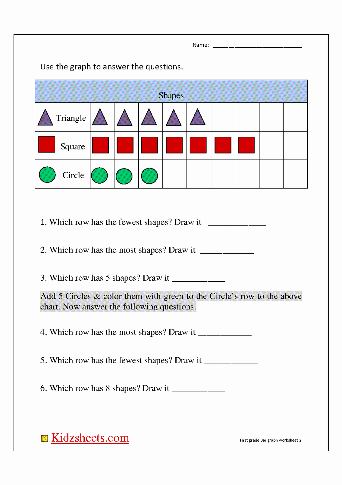 Graphing Worksheets for First Grade Beautiful First Grade Graph Worksheets