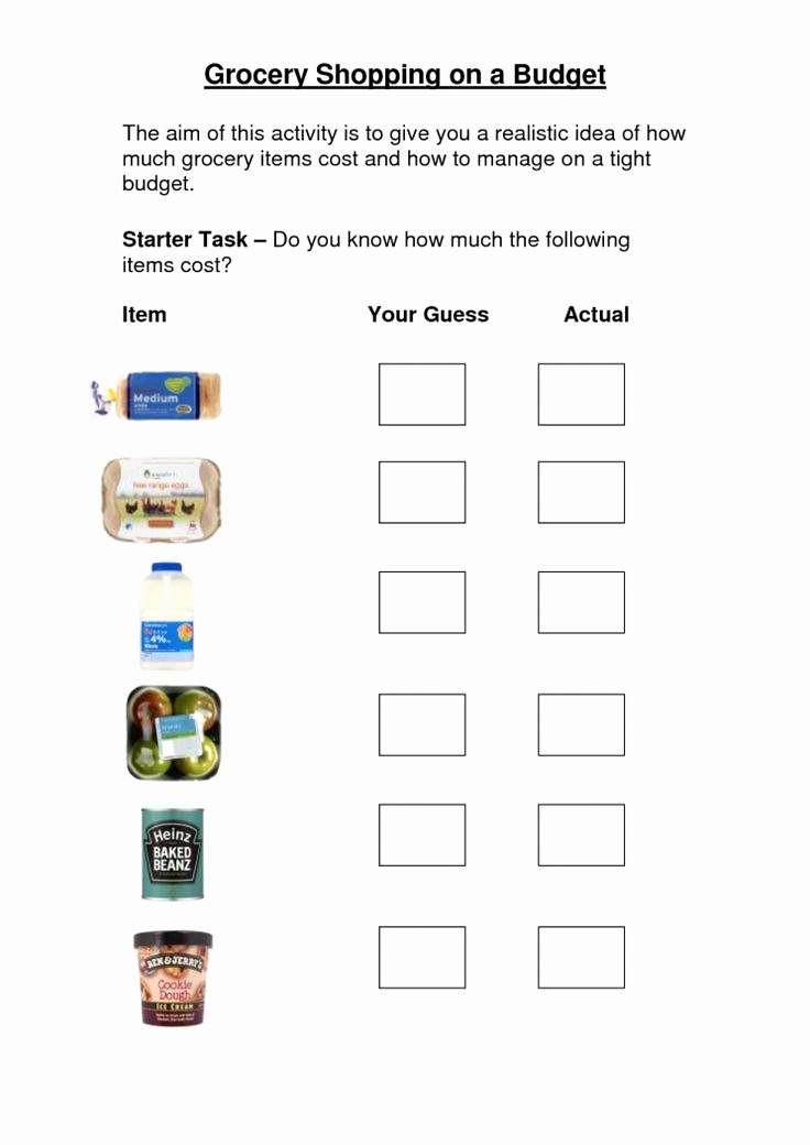 Grocery Shopping Math Worksheets Awesome 8 Grocery Store Worksheet Kindergarten