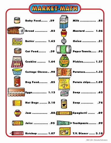 Grocery Shopping Math Worksheets Elegant Market Math for Beginners Gr 1 3 Kool & Child
