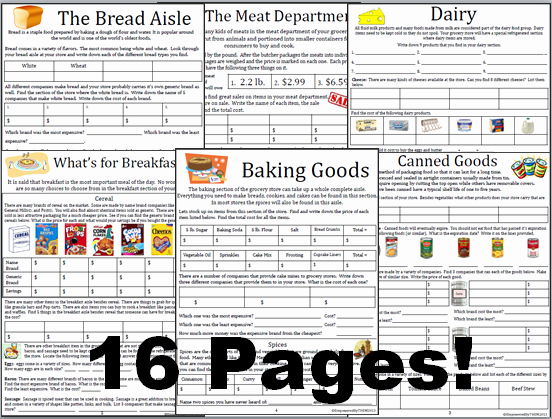 Grocery Shopping Math Worksheets Inspirational Empowered by them Grocery Store Math