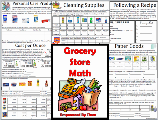Grocery Shopping Math Worksheets New Grocery Store Math 16 Unique Lessons Canned Goods