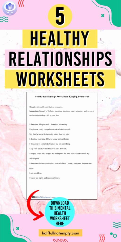 Healthy Relationships Worksheets Unique Healthy Relationship Worksheets 9