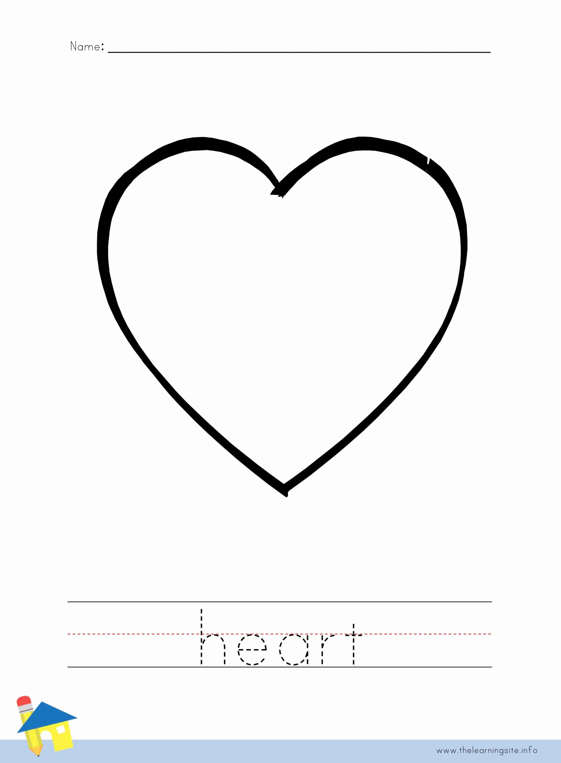 Heart Coloring Worksheet Awesome the Learning Site