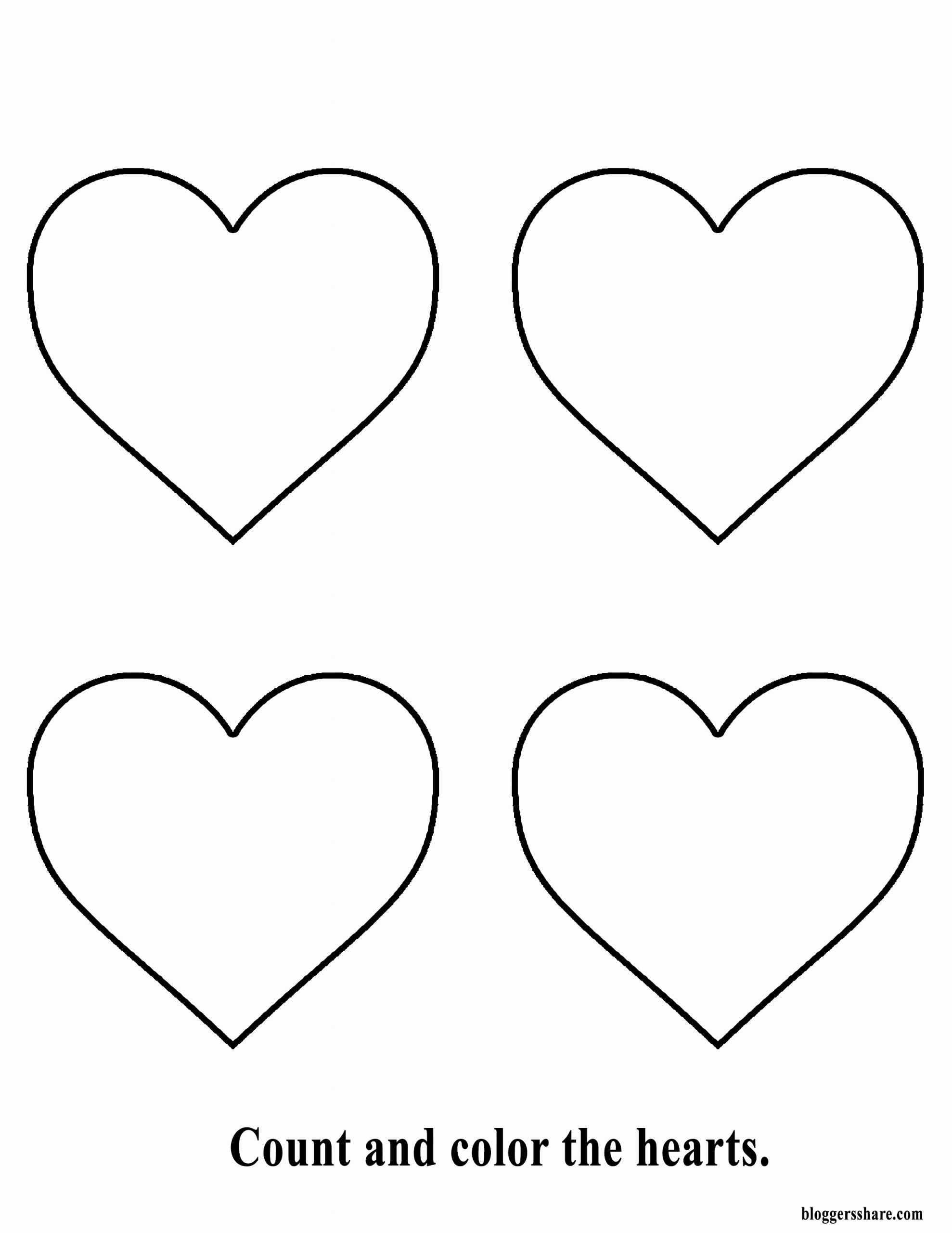 Heart Coloring Worksheet Beautiful Free Coloring Page Heart Printable for Kids Free