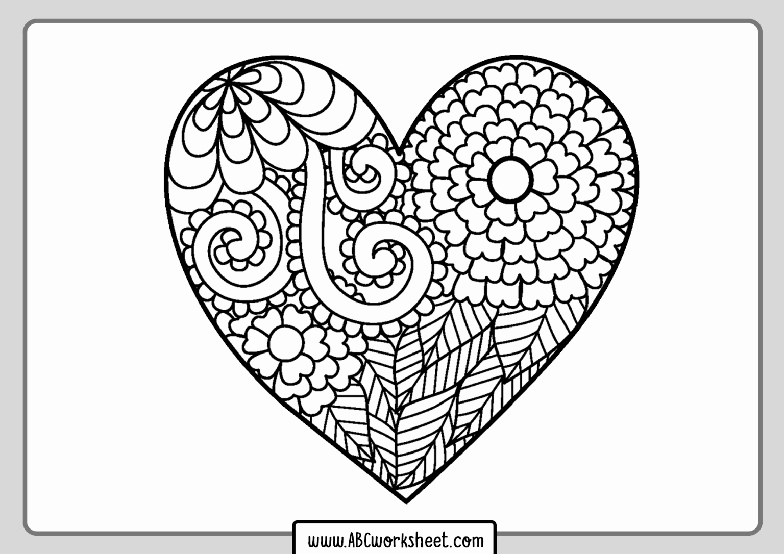 Heart Coloring Worksheet Beautiful Printable Heart Coloring Pages