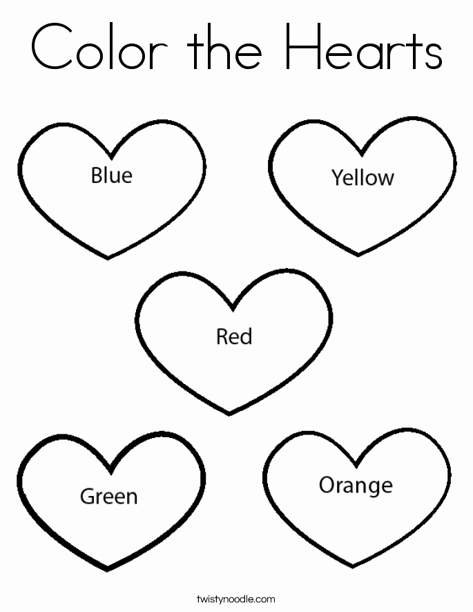 Heart Coloring Worksheet Best Of Color the Hearts Coloring Page Twisty Noodle