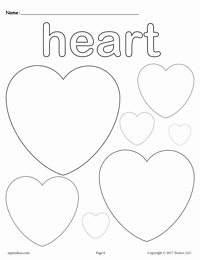 Heart Coloring Worksheet Best Of Hearts Coloring Page Heart Shape Worksheet – Supplyme