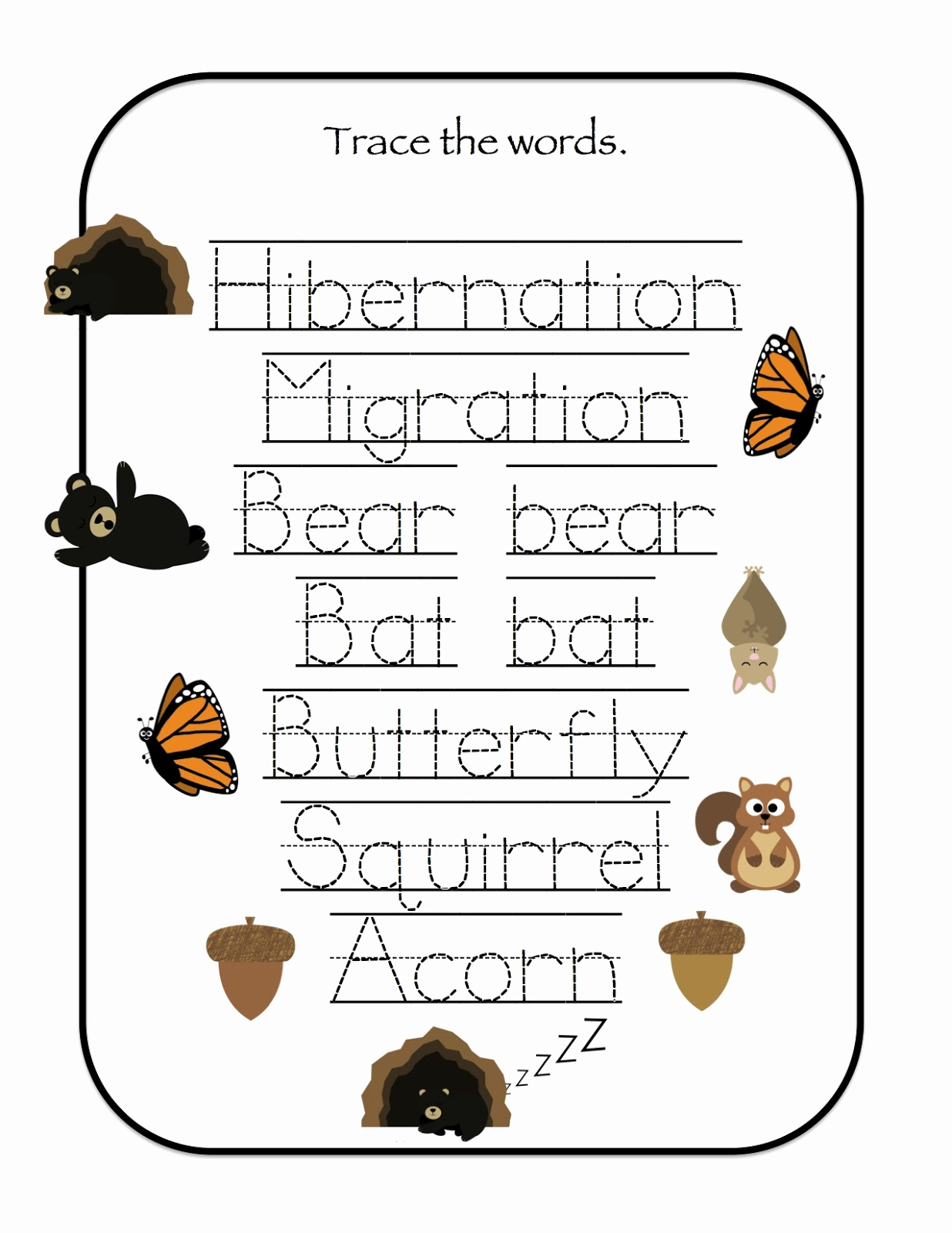 Hibernation Worksheets for Preschool Awesome Hibernation & Migration Printable Preschool Printables