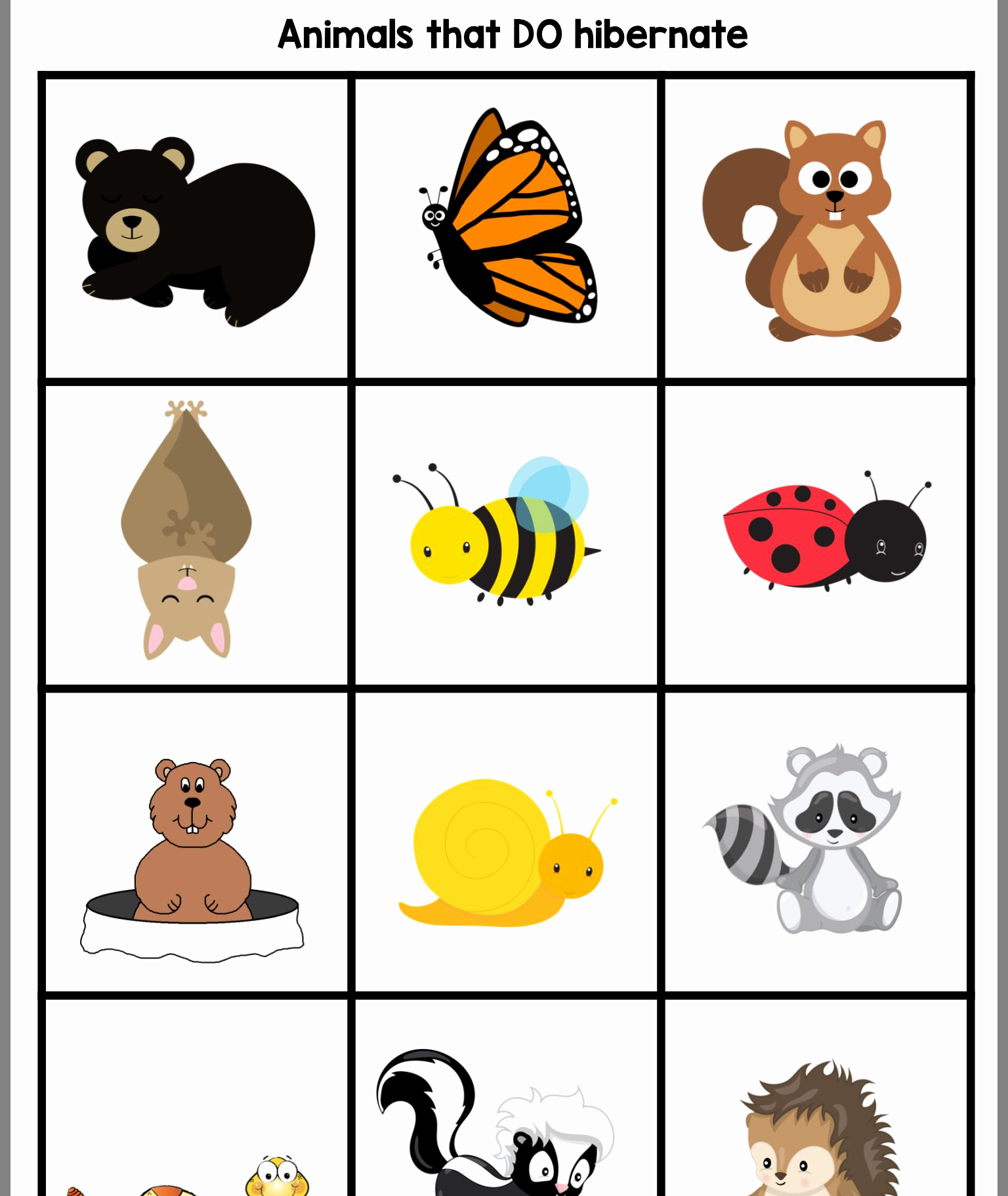 Hibernation Worksheets for Preschool Best Of Pin by Lisa Doucette On Hibernation Week