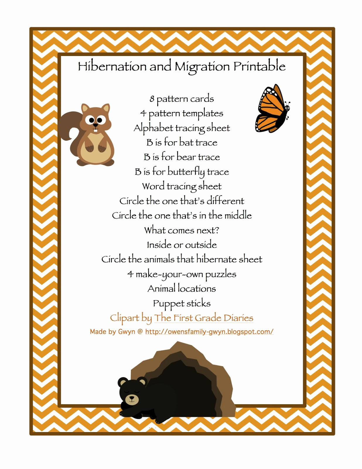 Hibernation Worksheets for Preschool Lovely Hibernation & Migration Printable Preschool Printables
