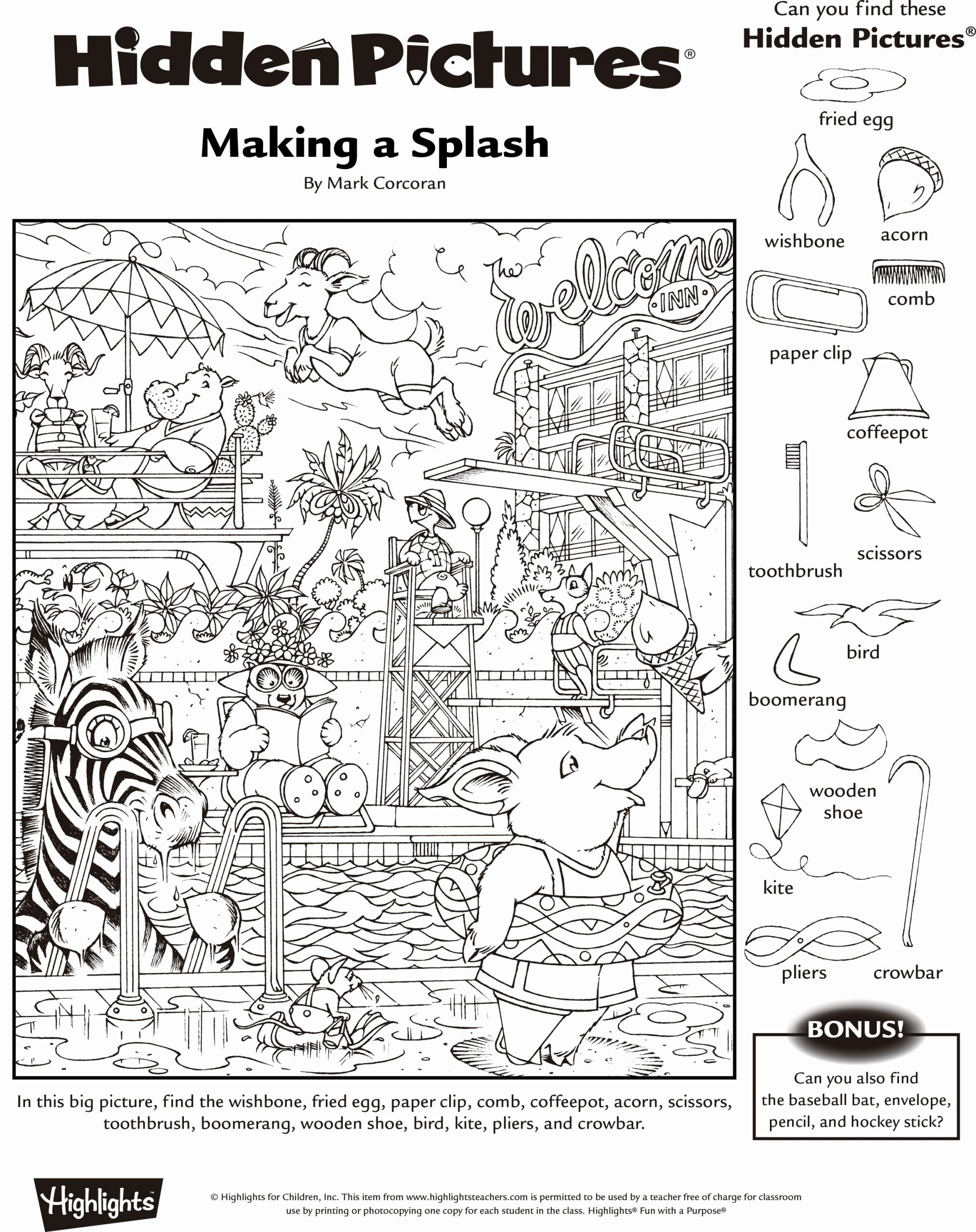 Hidden Animal Pictures Worksheets Awesome Hidden Animals Worksheet