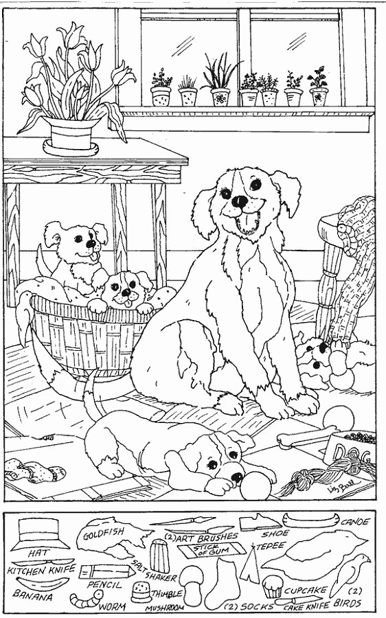 Hidden Animal Pictures Worksheets Awesome Hidden Picture Worksheet Dog Coloring Sheets