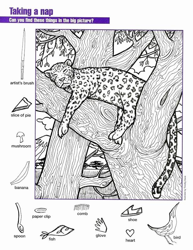 Hidden Animal Pictures Worksheets Best Of Hidden Worksheet Tiger Coloring Sheets