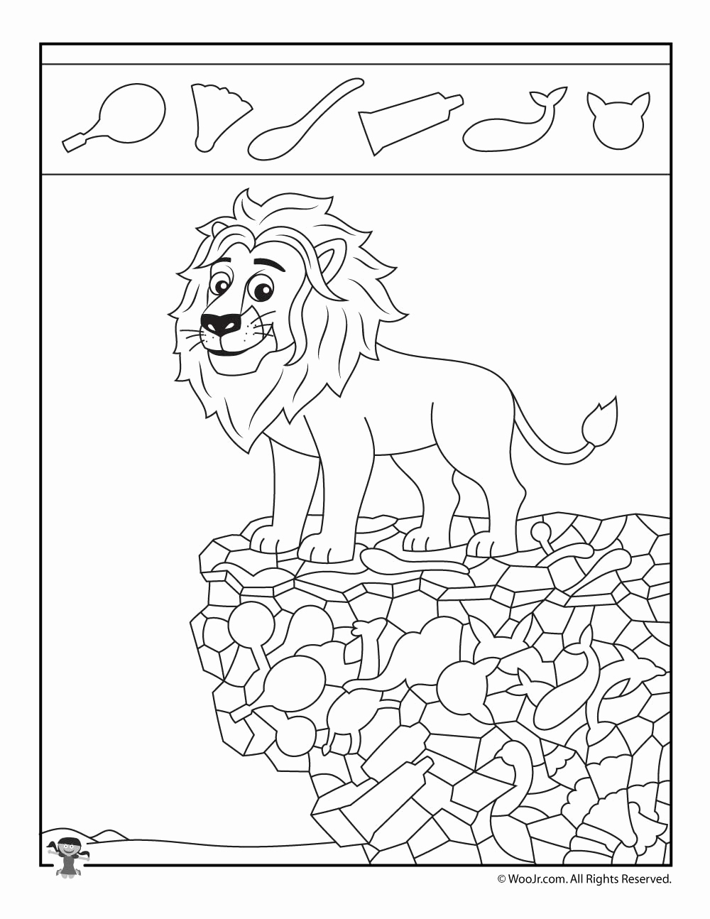 Hidden Animal Pictures Worksheets Fresh Lion Hidden Objects Page