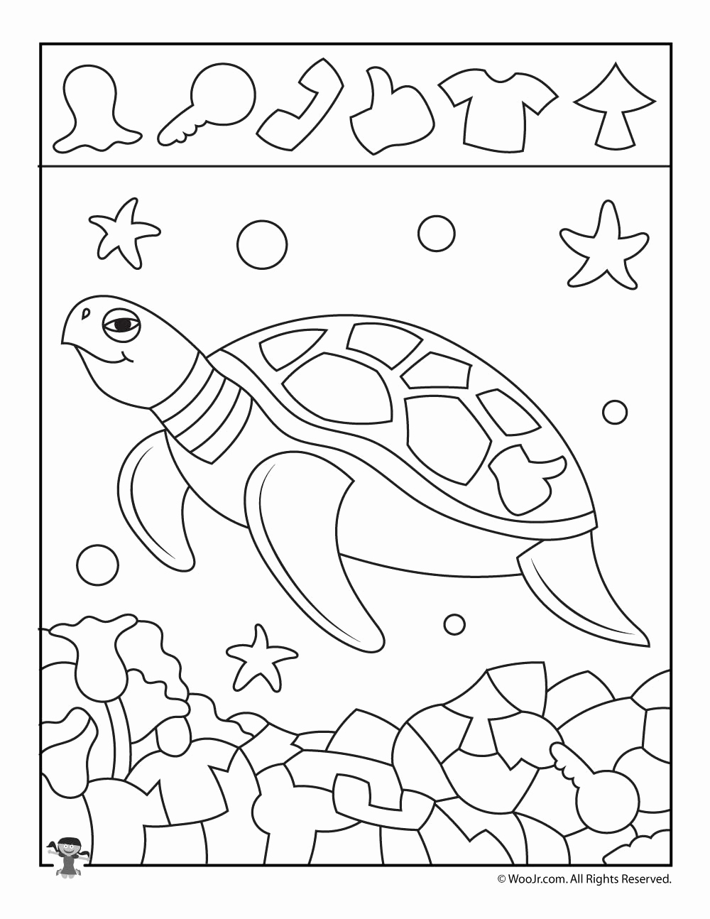 Hidden Animal Pictures Worksheets Inspirational Sea Turtle Find the Item Page