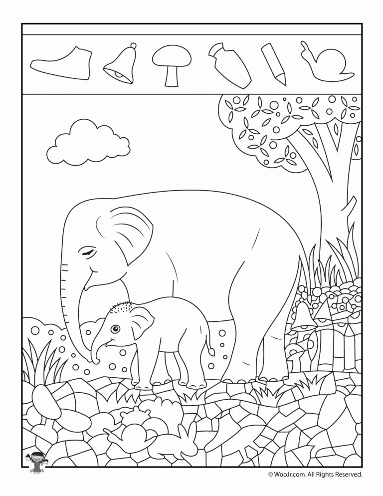 Hidden Animal Pictures Worksheets Lovely Easy Hidden with Animals Printable Activity Pages