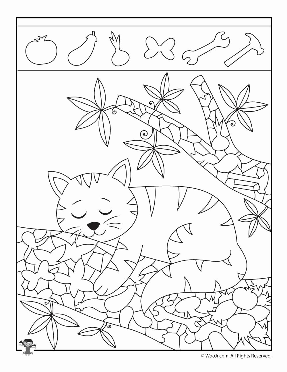 Hidden Animal Pictures Worksheets Unique Kitten Hidden Objects Printable