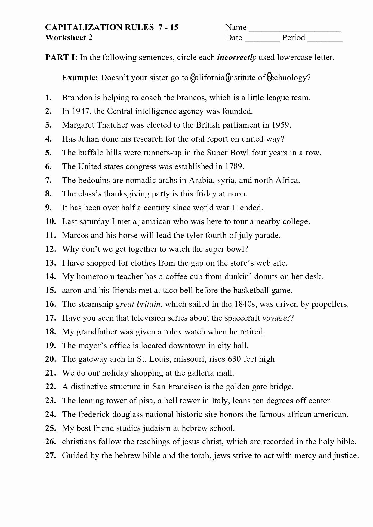 High School Punctuation Worksheets Beautiful Ellipsis Grammar Worksheet Middle School